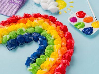 آموزش کاردستی رنگین کمان با یک روش ساده