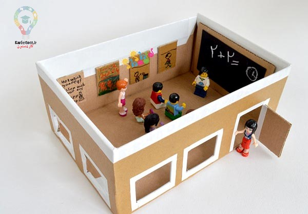 کاردستی با کارتون برای کودکان