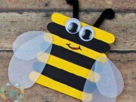 آموزش ساخت کاردستی زنبور برای کودکان