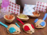 آموزش ساخت کاردستی با پوست گردو برای کودکان