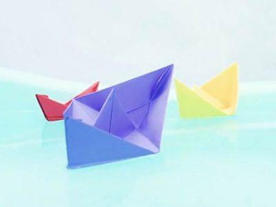 ساخت مرحله به مرحله قایق کاغذی به روش ساده