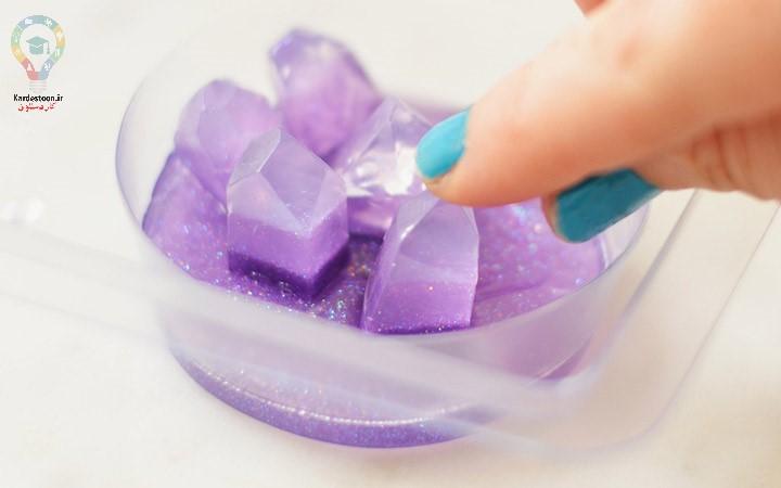 نحوه درست کردن صابون فانتزی رنگی