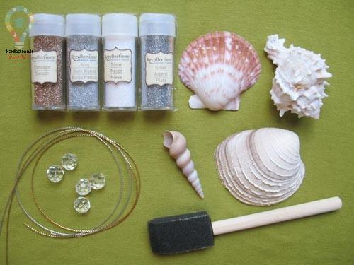 آموزش ساخت کاردستی و آویز با صدف دریایی