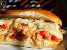 طرز تهیه ساندویچ مرغ پنیری با فر در منزل
