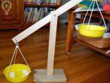 خلاقیت ساخت کاردستی ترازو برای کودکان